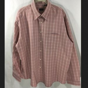 Izod Red Button Down Long sleeve Shirt